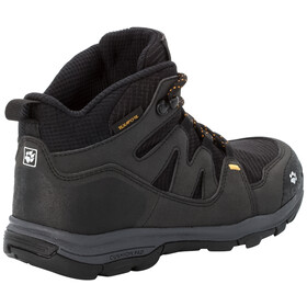 Jack Wolfskin MTN Attack 3 Texapore Middelhoge Schoenen Kinderen, black/burly yellow XT